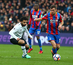March 31, 2018 - London, Greater London, United Kingdom - Crystal Palace's James McArthur (Right).during the Premiership League  match between Crystal Palace and Liverpool at Wembley, London, England on 31 March 2018. (Credit Image: © Kieran Galvin/NurPhoto via ZUMA Press)