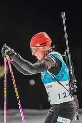 February 12, 2018 - Pyeongchang, Gangwon, South Korea - Franziska Hildebrand of Germany competing at Women's 10km Pursuit, Biathlon, at olympics at Alpensia biathlon stadium, Pyeongchang, South Korea. on February 12, 2018. (Credit Image: © Ulrik Pedersen/NurPhoto via ZUMA Press)