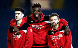 Callum O'Dowda, Tammy Abraham and Matty Taylor of Bristol City pose for a picture on arrival at Elland Road for the Sky Bet Championship fixture with Leeds United - Mandatory by-line: Robbie Stephenson/JMP - 14/02/2017 - FOOTBALL - Elland Road - Leeds, England - Leeds United v Bristol City - Sky Bet Championship