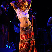"""Dawn Lewis aka """"Peaches Mahoney"""" performs with Vaud and the Villains at The Music Hall in Portsmouth, NH. July 2012."""