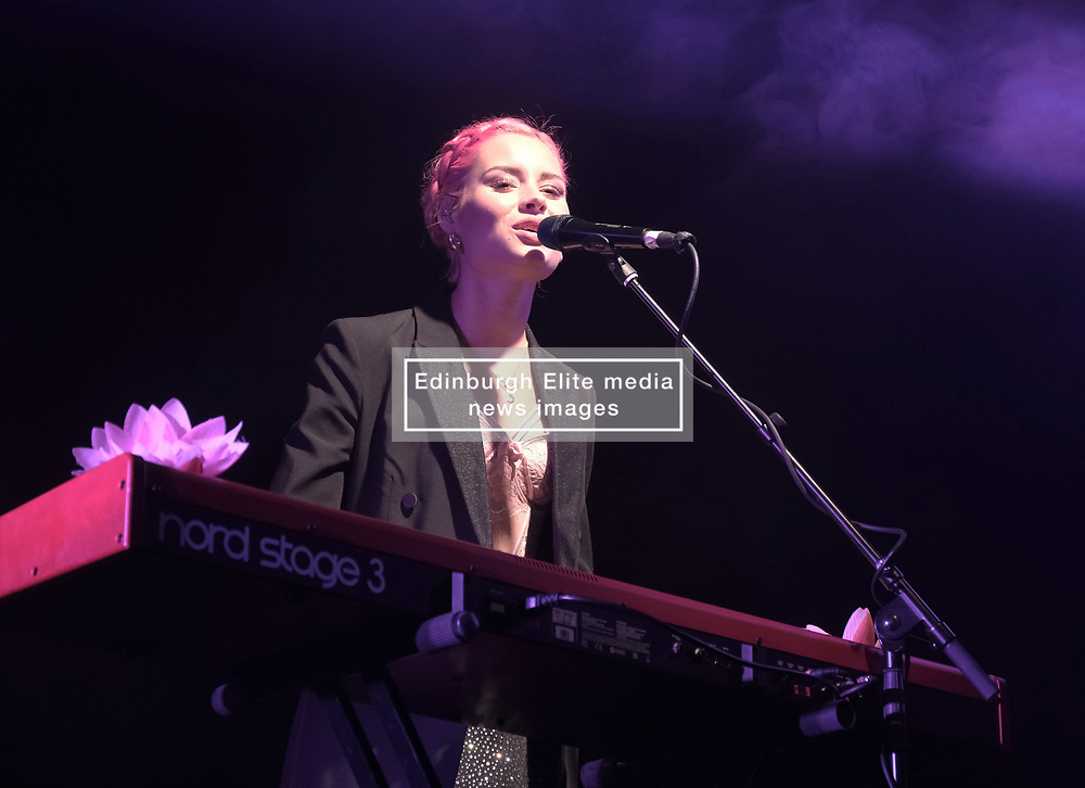 Nina Nesbitt at SWG3 in Glasgow as part of her 'The Sun Will Come Up' UK Tour 2019 <br /> <br /> Pictured: Nina Nesbitt<br /> <br /> (c) Aimee Todd   Edinburgh Elite media