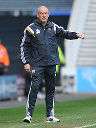 Mark Warburton Manager Brentford,  Derby County, Derby County v Brentford, Sy Bet Championship, IPro Stadium, Saturday 11th April 2015. Score 1-1,  (Bent 92) (Pritchard 28)<br /> Att 30,050