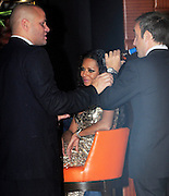 22.OCTOBER.2009 - LONDON<br /> <br /> FORMER SPICE GIRL SINGER MEL B SITTING AT THE BAR AT THE MAYFAIR HOTEL AT 2.30AM WITH HUSBAND STEPHEN BELAFONTE AND OTHER FRIENDS, MEL THEN GAVE STEPHEN HER SHOES BEFORE HE HELPED HER TO THE LIFT<br /> <br /> BYLINE: EDBIMAGEARCHIVE.COM<br /> <br /> *THIS IMAGE IS STRICTLY FOR UK NEWSPAPERS & MAGAZINES ONLY*<br /> *FOR WORLDWIDE SALES & WEB USE PLEASE CONTACT EDBIMAGEARCHIVE-0208 954 5968*