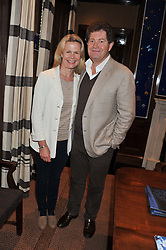 ANDREW & JANE WINCH at a lunch to announce the partnership between Creme de la Mer and BLUE Marine Foundation held at Sotheby's 34-35 New Bond Street, London on 18th May 2012.