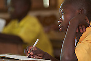 Students learn in a classroom  at Tizza Primary School, Ghana.
