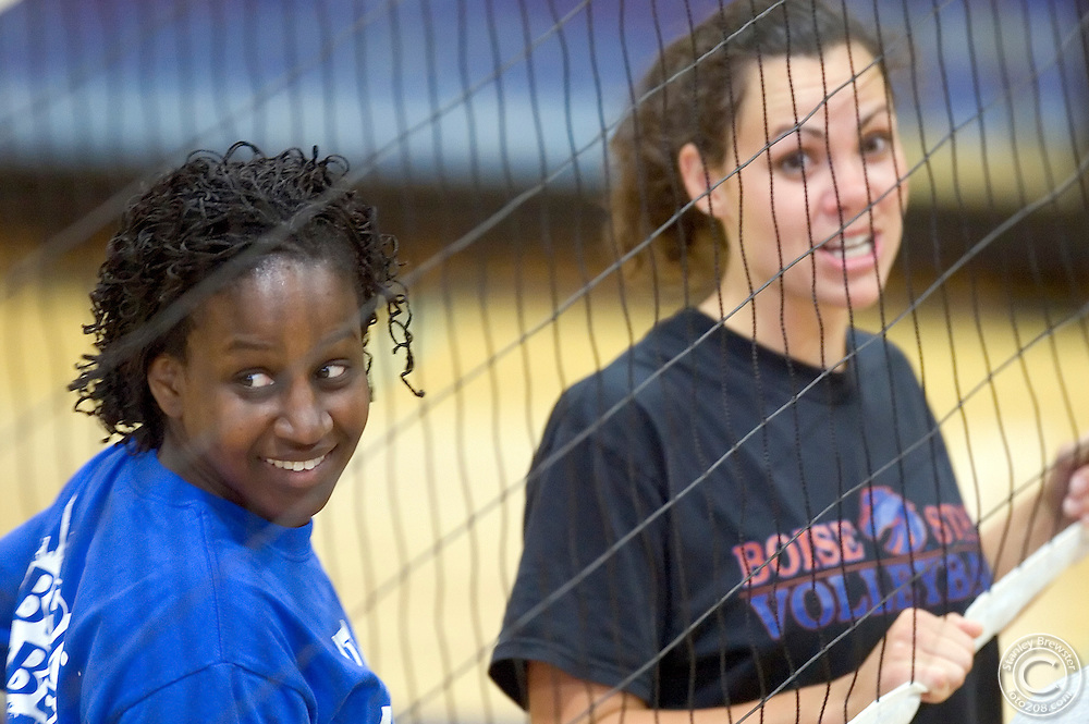 18 August 2007: Current members of the Boise State Volleyball team welcomed past members for an afternoon of fun during the Volleyball Alumni Match at Bronco Gym on the campus of Boise State University in Boise, ID.