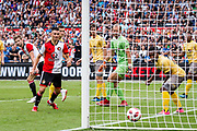Feyenoord player Jan Arie van der Heijden (l) scores the 3-0 during the Dutch football Eredivisie match between Feyenoord and Excelsior at De Kuip Stadium in Rotterdam, on August 19th, 2018 - Photo Dennis Wielders / Pro Shots / ProSportsImages / DPPI