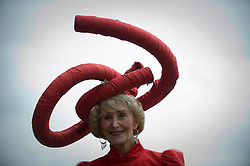© licensed to London News Pictures.16/06/2011. Ascot, UK.   Jackie Claridge at Ladies day at Royal Ascot races today (16/06/2011). The 5 day showcase event is one of the highlights of the racing calendar. Horse racing has been held at the famous Berkshire course since 1711 and tradition is a hallmark of the meeting. Top hats and tails remain compulsory in parts of the course. Photo credit should read: Ben Cawthra/LNP