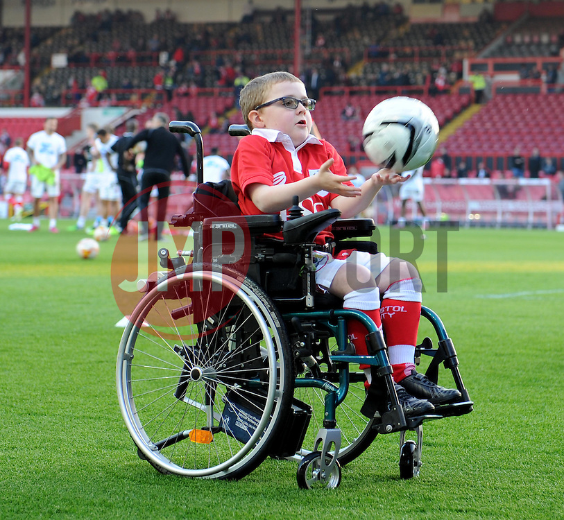 Mascot at Ashton Gate for the Sky Bet League One game between Bristol City and Swindon Town on 8 April 2015 in Bristol, England - Photo mandatory by-line: Paul Knight/JMP - Mobile: 07966 386802 - 07/04/2015 - SPORT - Football - Bristol - Ashton Gate Stadium - Bristol City v Swindon Town - Sky Bet League One