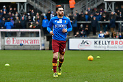 Romain Vincelot (6) of Bradford City warming up at The Memorial Stadium before the EFL Sky Bet League 1 match between Bristol Rovers and Bradford City at the Memorial Stadium, Bristol, England on 20 January 2018. Photo by Graham Hunt.