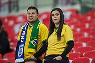 Brazil fans ahead of the international friendly match between England and Brazil at Wembley Stadium, London, England on 14 November 2017. Photo by Darren Musgrove.