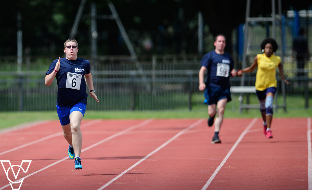 Metro Blind Sport's 2017 Athletics Open held at Mile End Stadium.  200m Senior Men - Final.  Matthew Boulding<br /> <br /> Picture: Chris Vaughan Photography for Metro Blind Sport<br /> Date: June 17, 2017