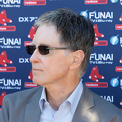 February 19, 2011; Fort Myers, FL, USA; Boston Red Sox owner John Henry during spring training at the Player Development Complex.  Mandatory Credit: Derick E. Hingle