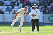 Craig Overton of Somerset bowling during the Specsavers County Champ Div 1 match between Somerset County Cricket Club and Lancashire County Cricket Club at the Cooper Associates County Ground, Taunton, United Kingdom on 5 September 2018.