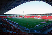 A general interior view of The Keepmoat Stadium, home of Doncaster Rovers before the EFL Sky Bet League 1 match between Doncaster Rovers and Blackpool at the Keepmoat Stadium, Doncaster, England on 17 September 2019.