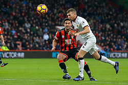Tom Cleverley of Watford clears the ball under pressure - Mandatory by-line: Jason Brown/JMP - 21/01/2017 - FOOTBALL - Vitality Stadium - Bournemouth, England - Bournemouth v Watford - Premier League