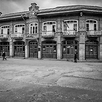 A Beautiful old building in the centre square of Sheki town, used as the towns city hall.