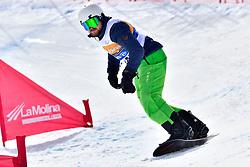 PLEBAN Joe, SB-LL2, USA, Banked Slalom at the WPSB_2019 Para Snowboard World Cup, La Molina, Spain