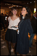 QUITTERIE VALLET (L), ZOE (R) at the preview of LAPADA Art and Antiques Fair. Berkeley Sq. London. 23 September 2014.