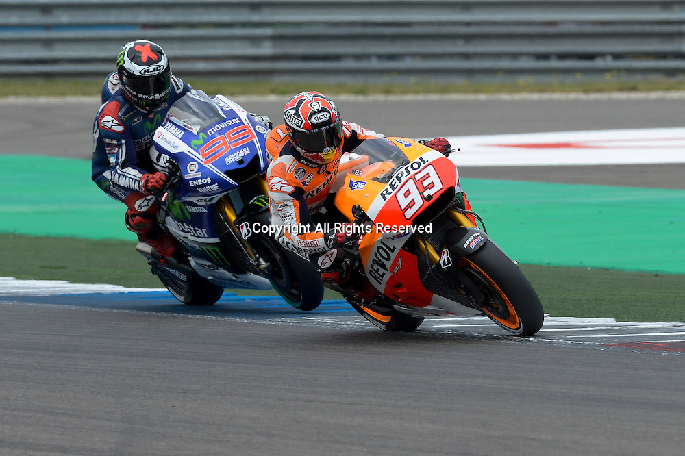 27.06.2014.  Assen, Netherlands. MotoGP. Iveco Daily TT Assen Qualifying. Marc Marquez (Repsol Honda Team) during the qualifying sessions at TT Assen circuit.