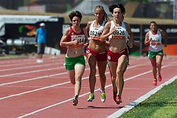 NIEWIEDZIAL Barbara, MELOCH Arleta, ALMEIDA Catia, BIACSI Bernadett, POL, POR, HUN, 1500m, T20, 2013 IPC Athletics World Championships, Lyon, France