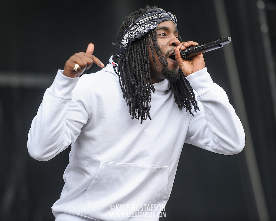 WASHINGTON, DC - September 26th, 2015 - Wale performs at the 2015 Landmark Festival in Washington, D.C.  (Photo by Kyle Gustafson / For The Washington Post)