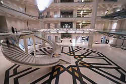 Interior view of Museum of Islamic Art in Doha Qatar
