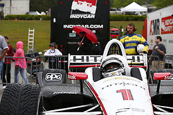 April 23, 2018 - Birmingham, Alabama, United States of America - JOSEF NEWGARDEN (1) of the United States celebrates in victory lane after taking the checkered flag and winning the Honda Grand Prix of Alabama at Barber Motorsports Park in Birmingham, Alabama. (Credit Image: © Justin R. Noe Asp Inc/ASP via ZUMA Wire)