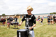 The Oregon Marching Band practices in Sandwich, Illinois on July 8, 2008.
