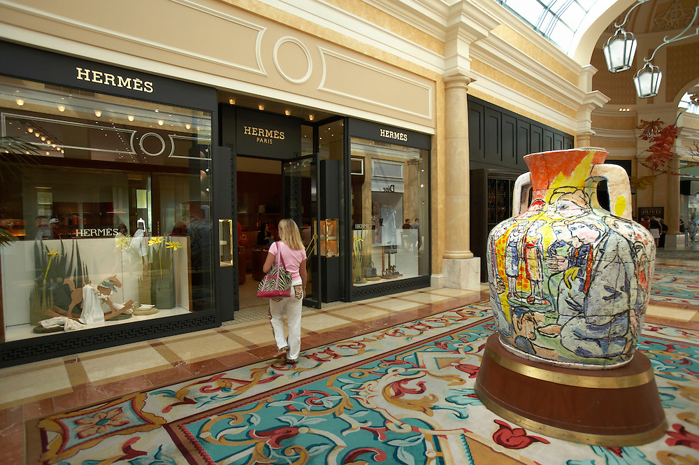 Shopping at the Bellagio Hotel.Las Vegas, Nevada