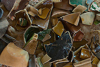 Medieval shards of pottery found at a castle near Leipzig, Germany.