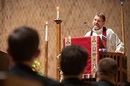 The Rev. Terry Forke, president of the LCMS Montana District, preaches during The Order of Vespers with Distribution of Calls into the Holy Ministry on Tuesday, April 30, 2019, in Kramer Chapel at Concordia Theological Seminary, Fort Wayne, Ind.  LCMS Communications/Erik M. Lunsford