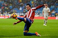 Sporting de Gijon's player Moi Gonzalez during match of La Liga between Real Madrid and Sporting de Gijon at Santiago Bernabeu Stadium in Madrid, Spain. November 26, 2016. (ALTERPHOTOS/BorjaB.Hojas)