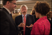 GEOFFREY ROBERTSON; AMINATTA FORNA, Fortnum and Mason and Quartet books host a celebration for the publication of  The White Umbrella by Brian Sewell. Illustrated by Sally Ann Lasson. Fortnum and Mason. Piccadilly. London. 3 March 2015.
