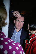 TIM LOWE, private view  of new exhibition by Tim Stoner , Alison Jacques Gallery in new premises in Berners St., London, W1 ,Afterwards across the rd. at the Sanderson Hotel. 3 May 2007. DO NOT ARCHIVE-© Copyright Photograph by Dafydd Jones. 248 Clapham Rd. London SW9 0PZ. Tel 0207 820 0771. www.dafjones.com.