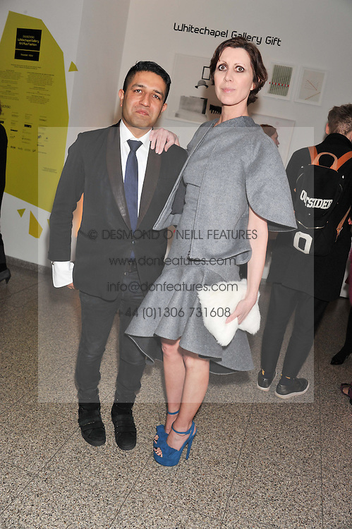 Osman Yousefzada and Valeria Napoleone at the Swarovski Whitechapel Gallery Art Plus Fashion fundraising gala in support of the gallery's education fund held at The Whitechapel Gallery, 77-82 Whitechapel High Street, London E1 on 14th March 2013