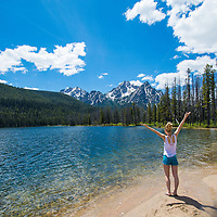 Noelle Snyder taking in the views at Stanley Lake