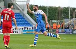 Peterborough United's Michael Bostwick celebrates scoring his first goal of the game - Photo mandatory by-line: Joe Dent/JMP - Mobile: 07966 386802 - 25/04/2015 - SPORT - Football - Peterborough - ABAX Stadium - Peterborough United v Crawley Town - Sky Bet League One