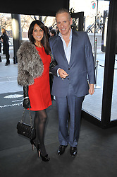 JACKIE ST.CLAIR and CARL MICHAELSON at the launch of One Hyde Park, The Residences at Mandarin Oriental, Knightsbridge, London on 19th January 2011.