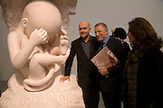 MARC QUINN, LAWRENCE AND FRANCESCA GRAFF, 'Evolution', an exhibition of work by Marc Quinn. White Cube. Masoin's Yard. London. 24 January 2008. -DO NOT ARCHIVE-© Copyright Photograph by Dafydd Jones. 248 Clapham Rd. London SW9 0PZ. Tel 0207 820 0771. www.dafjones.com.