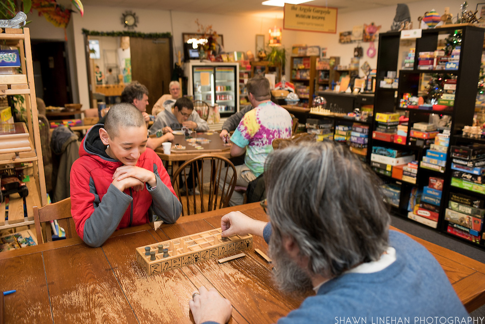 Visitors to the Interactive Museum of Games and Puzzlery (IMOGAP) in Beaverton, OR, can play with a very large selection of games.