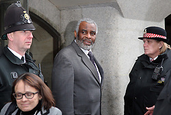 Neville Lawrence  outside the Old Bailey after the sentencing  in the Stephen Lawrence trial , Wednesday 4th January 2012. Photo by: Stephen Lock / i-Images