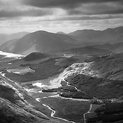 Looking down the glen from the back end of Buachaille Etive Mòr in September 2014