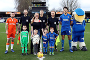 mascot during the EFL Sky Bet League 1 match between AFC Wimbledon and Blackpool at the Cherry Red Records Stadium, Kingston, England on 29 December 2018.
