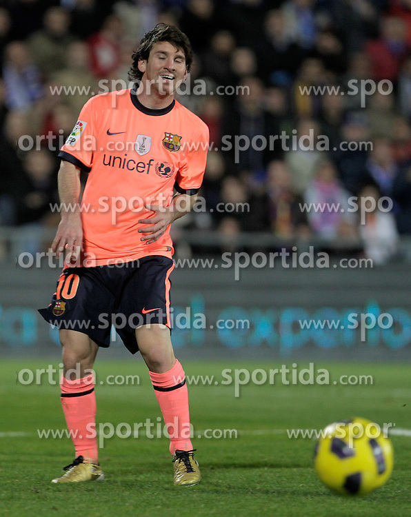 07.11.2010, Coliseum Alfonso Perez, Getafe, ESP, Primera Division, FC Getafe vs FC Barcelona, im Bild FC Barcelona's Lionel Messi. EXPA Pictures © 2010, PhotoCredit: EXPA/ Alterphotos/ Acero +++++ ATTENTION - OUT OF SPAIN / ESP +++++