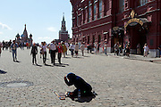 Begging, Red Square, Moscow, Russia