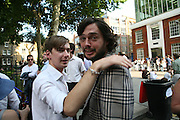 ALEX LOGSDAIL AND VIKTOR WYND, Beyond Belief-Damien Hirst. White Cube Hoxton and Mason's Yard.Party  afterwards at the Dorchester. Park Lane. 2 June 2007.  -DO NOT ARCHIVE-© Copyright Photograph by Dafydd Jones. 248 Clapham Rd. London SW9 0PZ. Tel 0207 820 0771. www.dafjones.com.