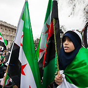 'Syrians Unite - down with Bashar' demonstration