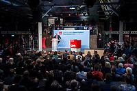 22 MAR 2017, BERLIN/GERMANY:<br /> Martin Schulz, SPD Parteivorsitzender und Spitzenkandidat der SPD zur Bundestagswahl, haelt eine Rede auf dem Neumitgliedertreffen der Berliner SPD, Festsaal Kreuzberg<br /> IMAGE: 20170322-02-129<br /> KEYWORDS: Martin Schulz, speech, Kanzlerkandidat, candidate