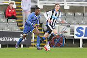 Paul Kalambayi of AFC Wimbledon during the FA Youth Cup match between Newcastle United and AFC Wimbledon at St. James's Park, Newcastle, England on 6 January 2016. Photo by Stuart Butcher.